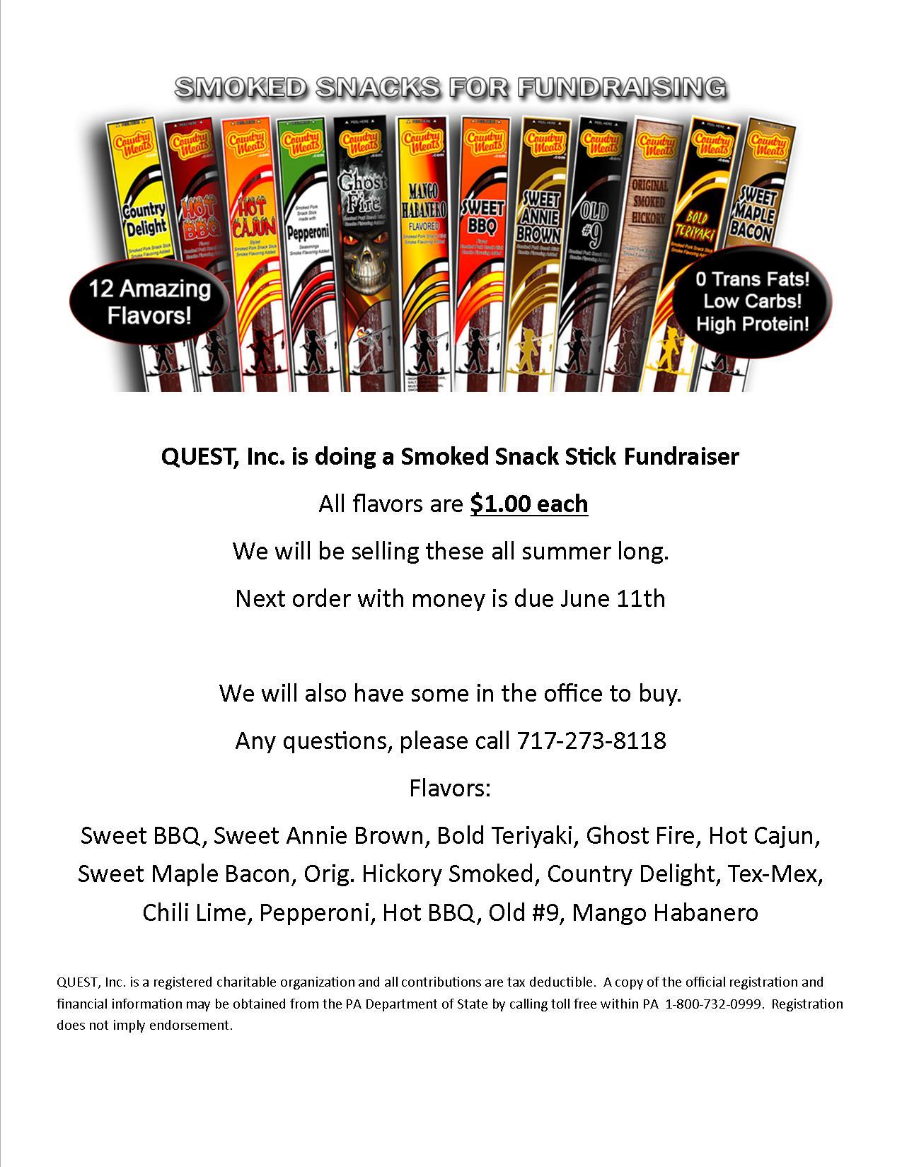 June Snack Sticks 2018