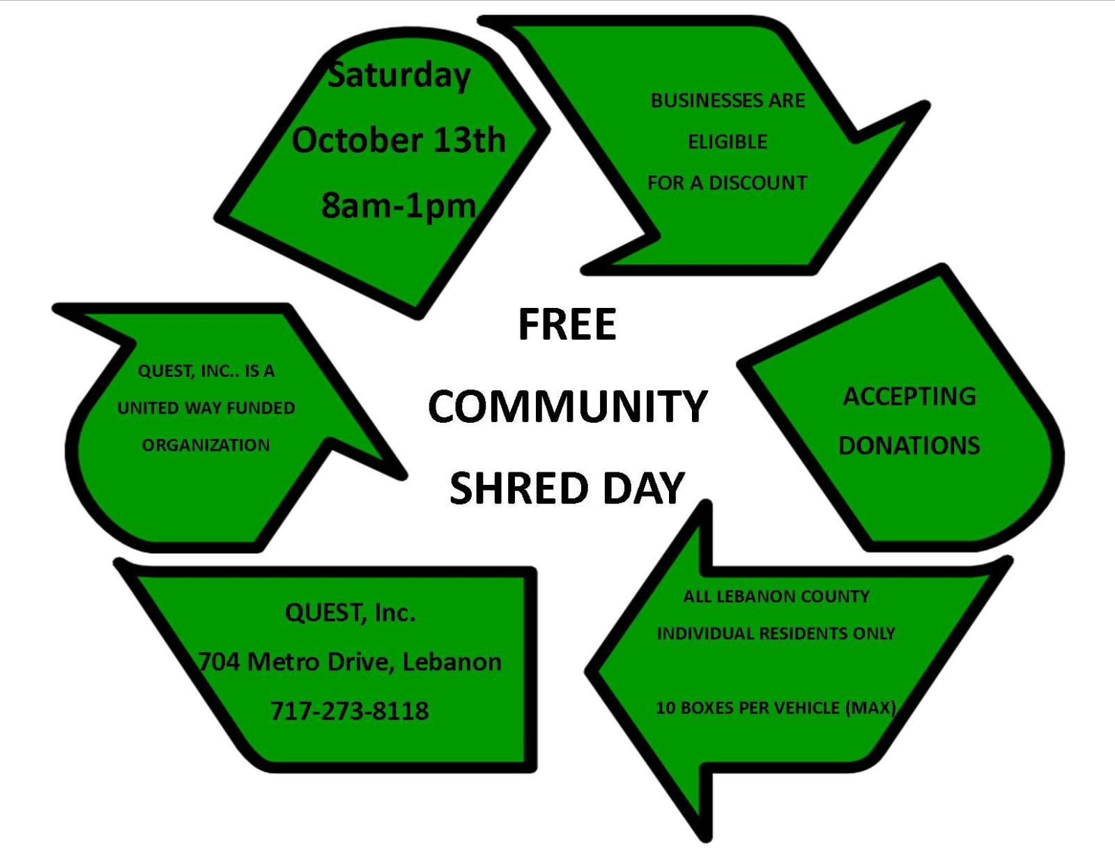 Free Shred Day Oct 2018